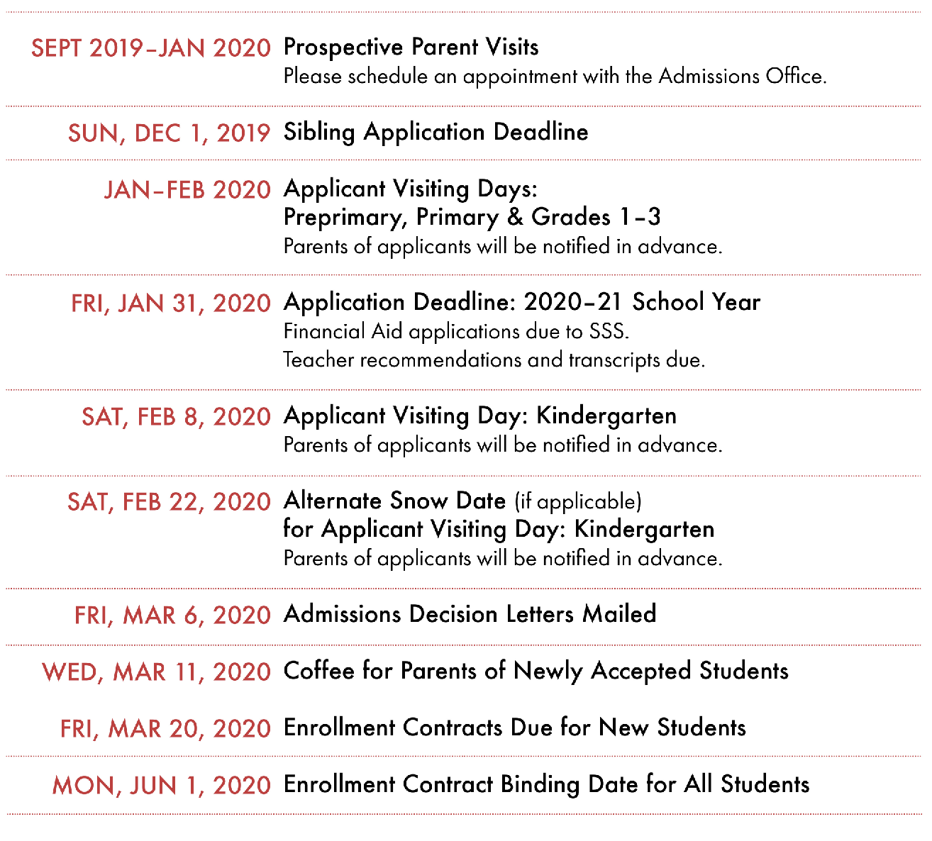 Pgcps Calendar 2020-21 Admission Events and Important Dates   Concord Hill School